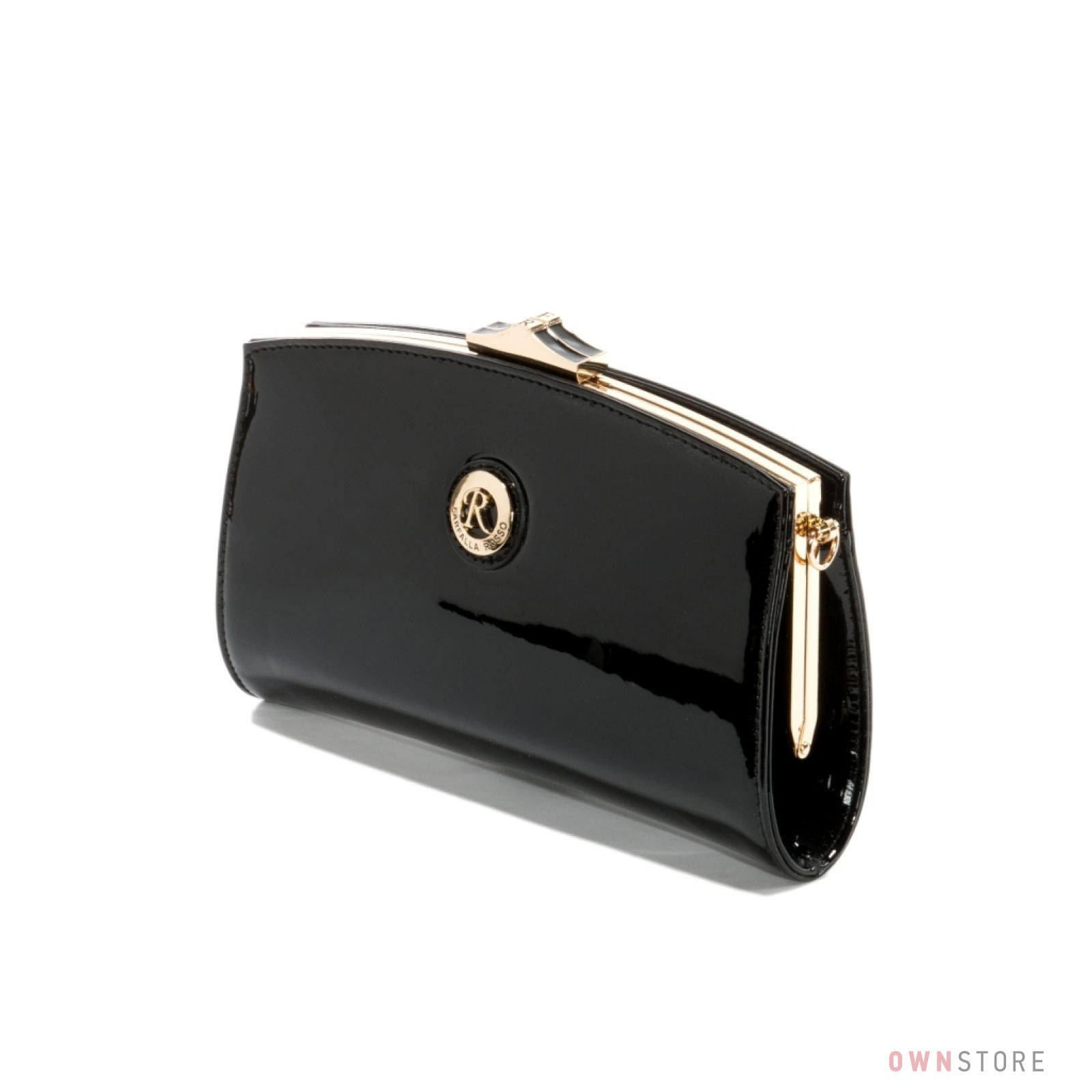 eabc891d9de0 Клатч женский Farfalla Rosso черный лаковый на цепочке купить в ...