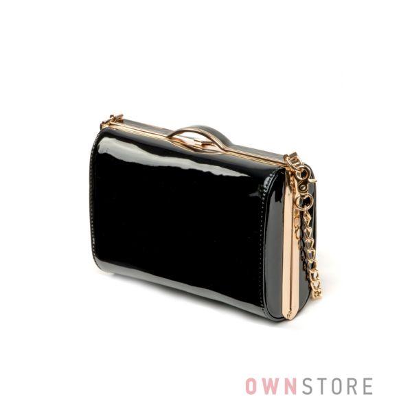 b0b247c4025d Купить сумку - клатч женскую лаковую черную Rose Heart в интернет-магазине  - арт.