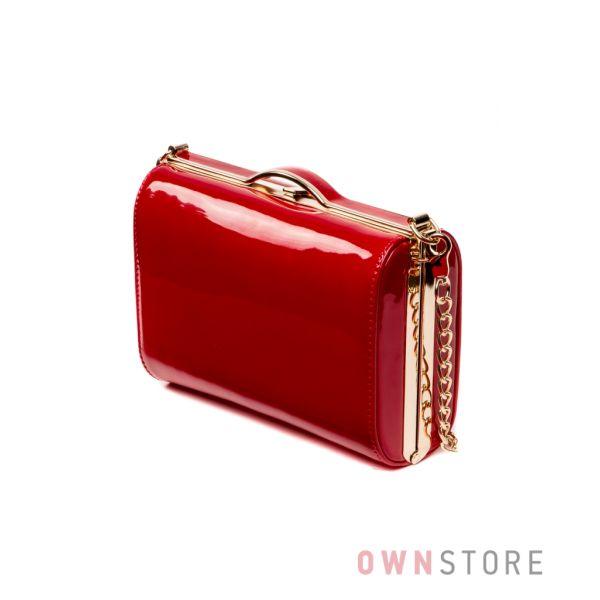 a081c8302324 Купить сумку - клатч женскую лаковую красную в интернет-магазине в Украине  - арт.