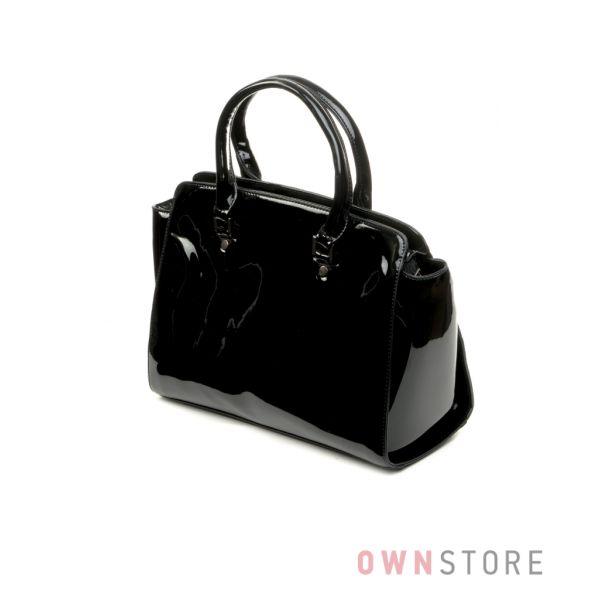 3422e5837ba9 Купить онлайн сумку женскую черную лаковую классику - арт.6607