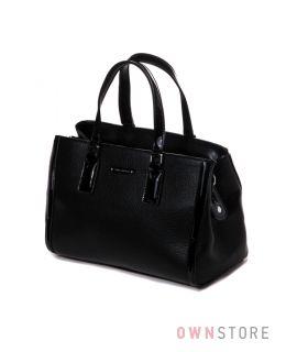 bd377b1ab8cb Купить сумку женскую черную с лаковой отделкой Velina Fabbiano - арт.53918