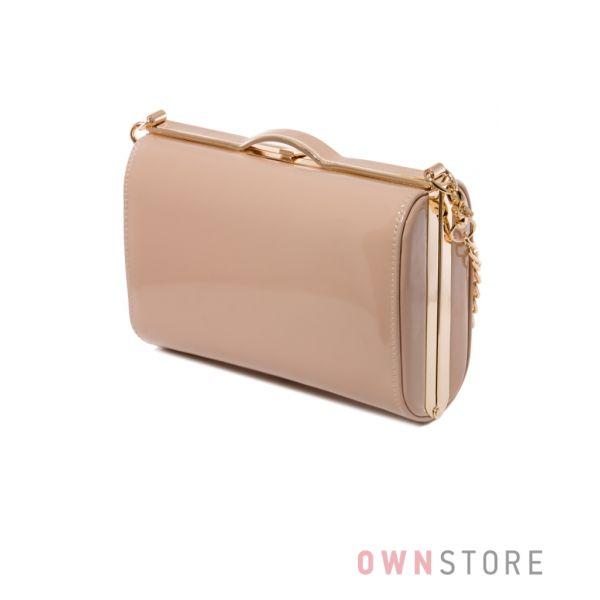 9cd6c90f4c41 Купить сумку - клатч женскую лаковую бежевую - арт.8653