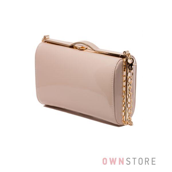 b2057d49938a Купить сумку - клатч женскую лаковую от Rose Heart цвета пудры - арт.8653