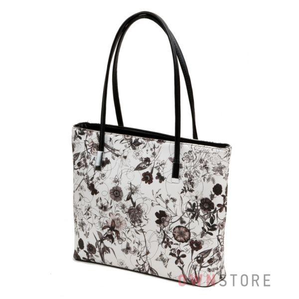 8438bdb87bca Купить сумку женскую черно-белую с цветами