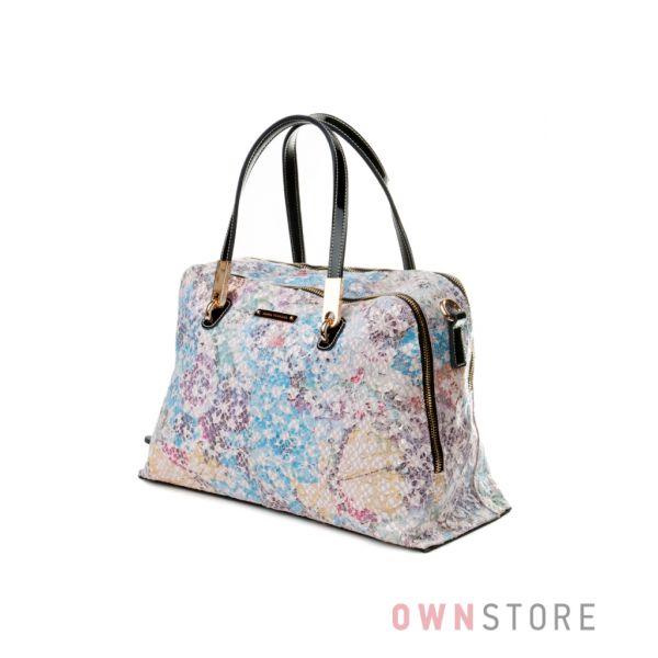 2b4e14e44936 Купить женскую кожаную сумку из разноцветного лазера от Velina Fabbiano -  арт.59772