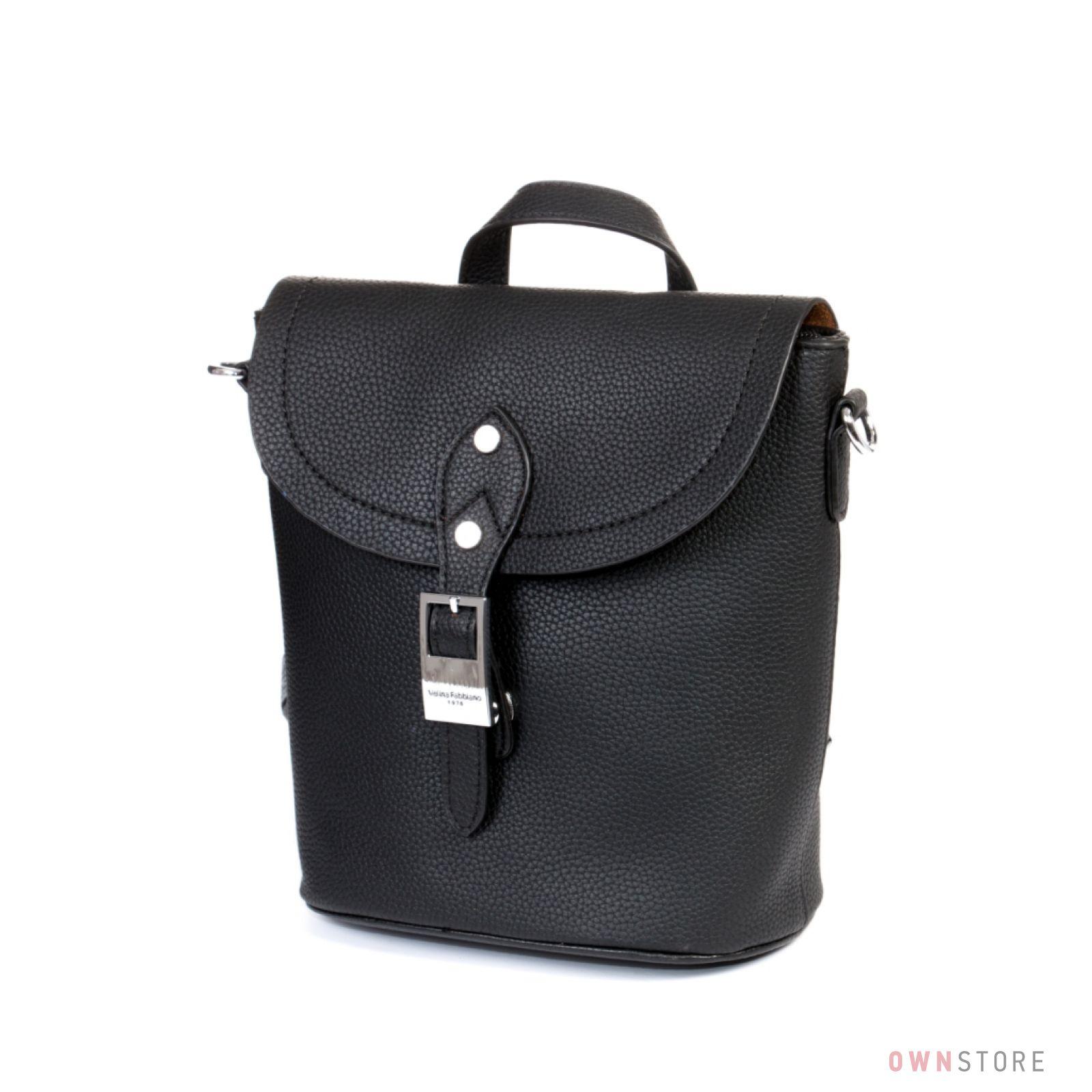 b7e0dc6b6a01 Купить сумку-рюкзак женскую с ручками в стразах от Велина Фабиано - арт.  551388
