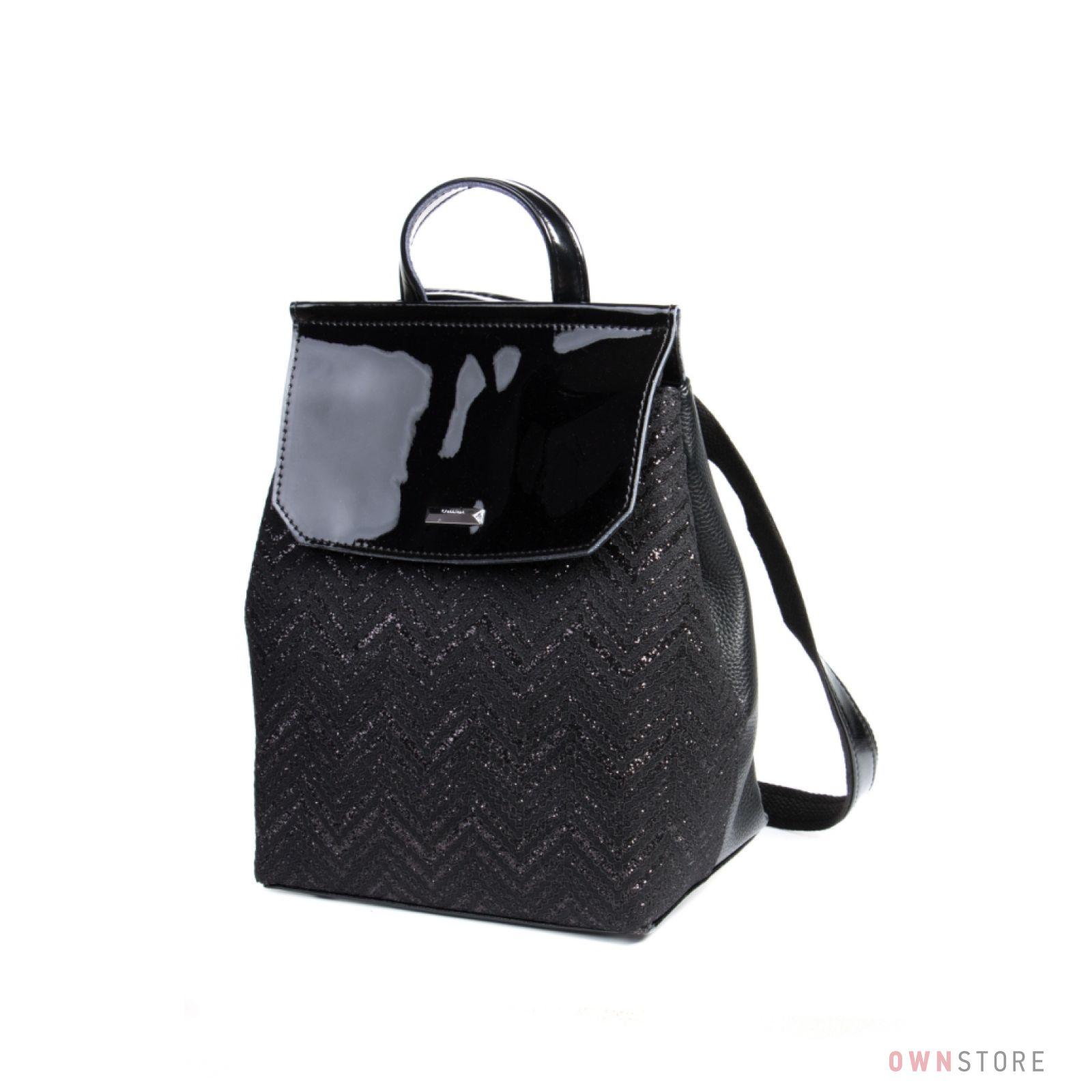 d2836fe4876c Купить рюкзак женский от Велина Фабиано с гипюровой отделкой и лаковым  клапаном онлайн - арт.