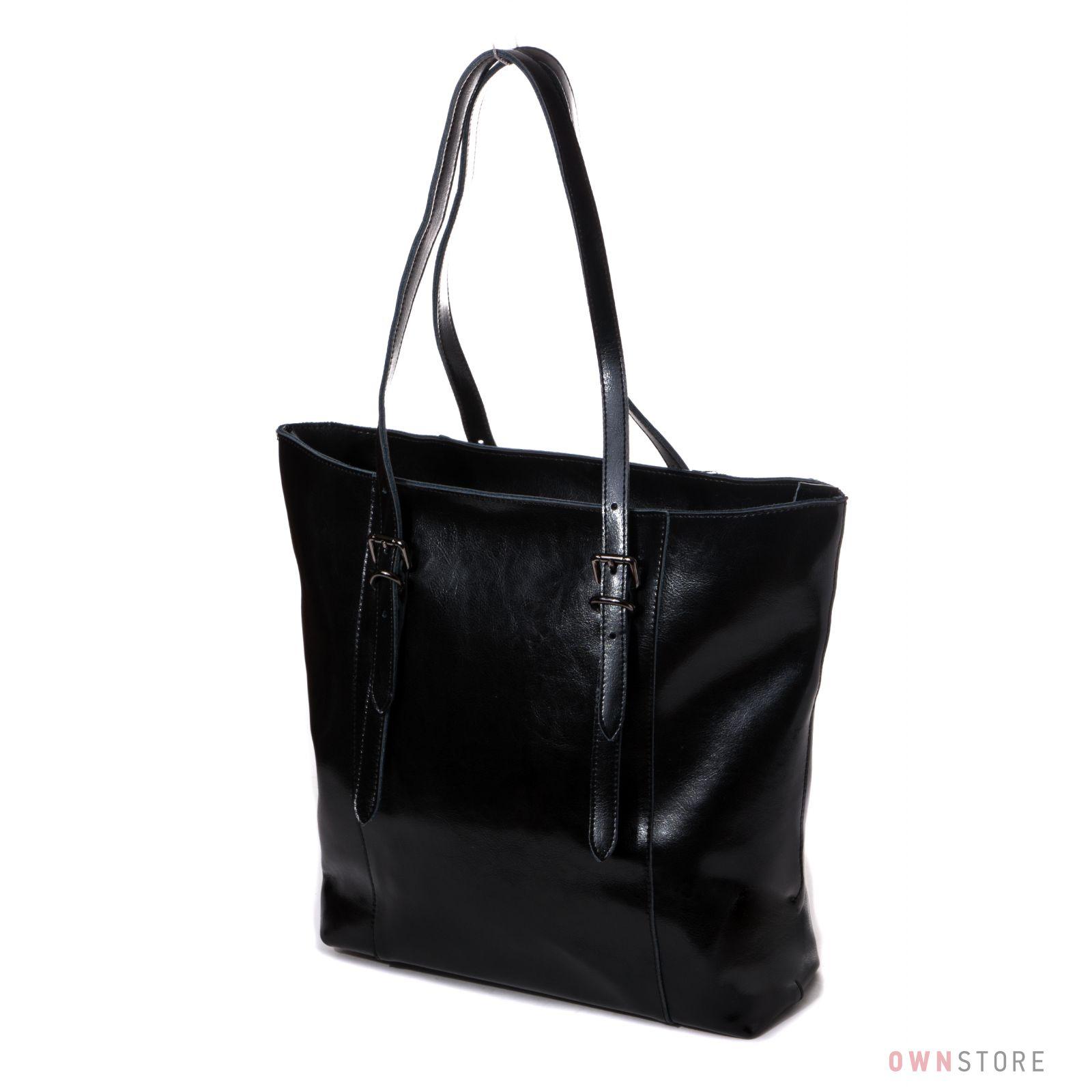 55cfaee73734 Женская большая кожаная сумка с длинными ручками от Farfalla Rosso