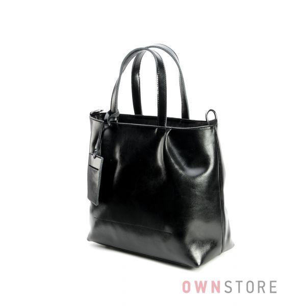 1d19f7f9335c Купить сумку женскую кожаную черную со складками от Farfalla Rosso - арт.760