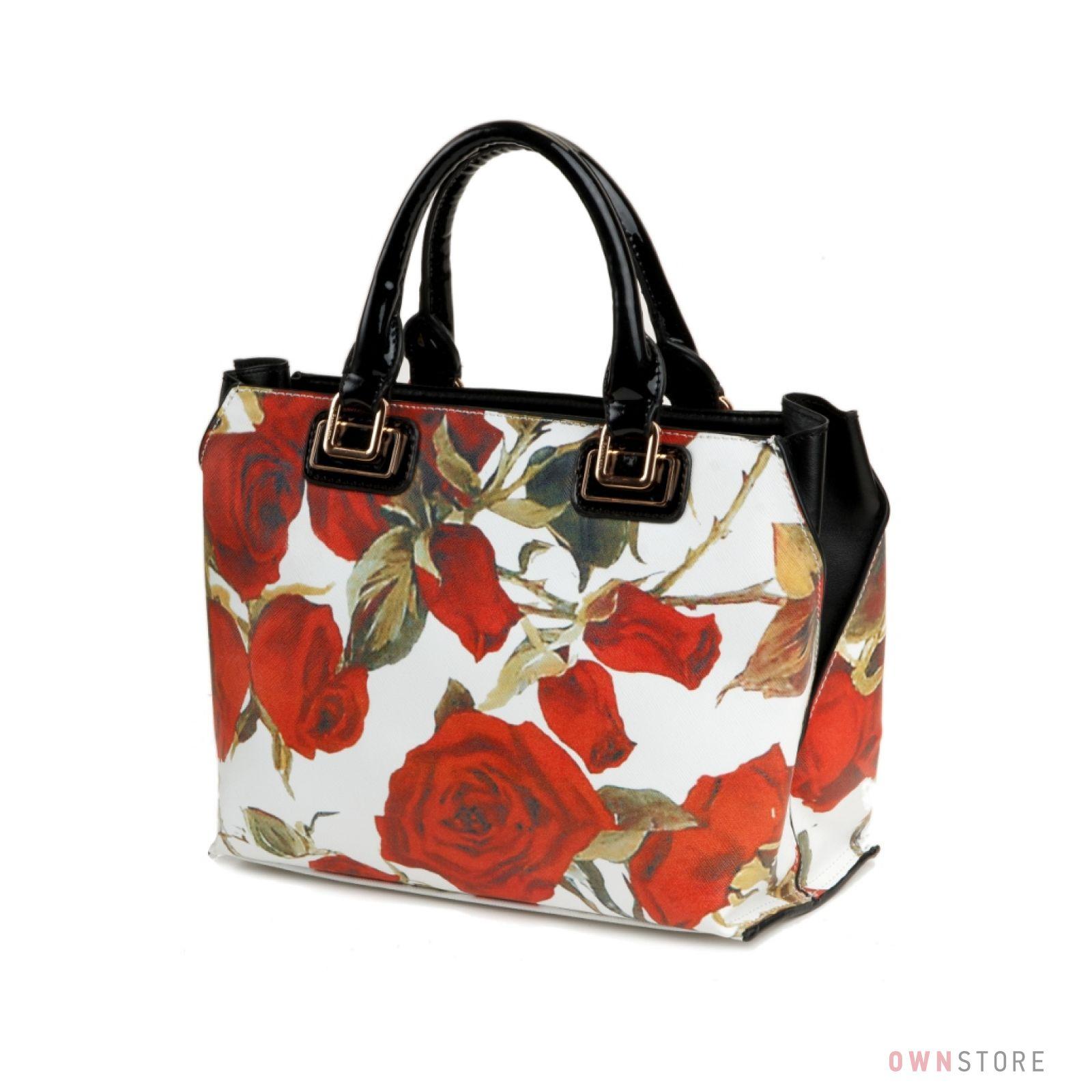 c383adaedc91 Купить сумку женскую с розами от Velina Fabbiano онлайн - арт.18087-1
