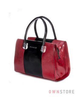 f734d2647454 Купить женскую сумку от Велина Фабиано комбинированную красно-черную в  Украине - арт.53901