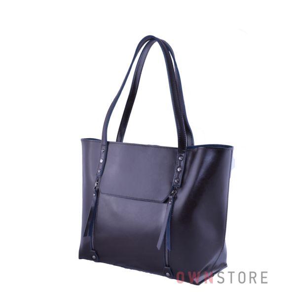 a9b92904e7f5 Купить онлайн сумку женскую коричневую кожаную с карманами - арт.76
