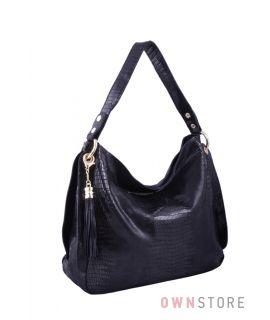 65c758480548 Купить онлайн сумку женскую на одной ручке из черного лазера - арт.8023