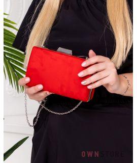 Купить онлайн клатч женский красный замшевый - арт.7559