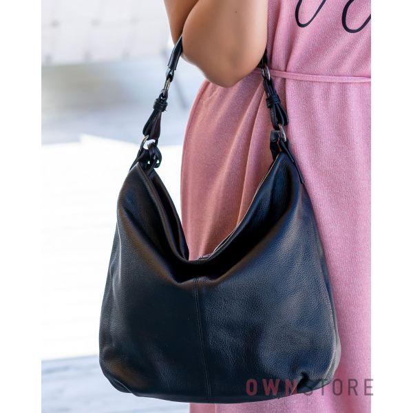 Купить онлайн кожаную женскую сумку - мешок на одной ручке - арт.79152