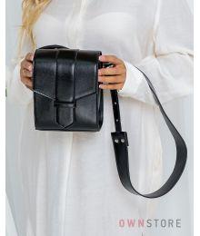 Маленькая наплечная черная сумочка(арт.9021)
