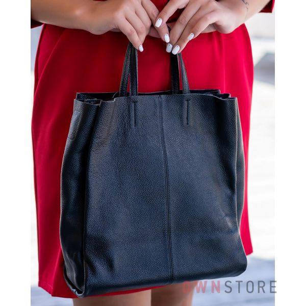 Купить онлайн сумку - шопер женскую черную из кожи - арт.9037