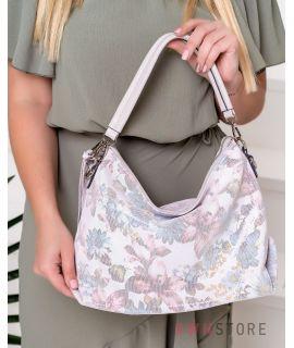 Купить онлайн сумку женскую прямоугольную из лазера с цветами - арт.924