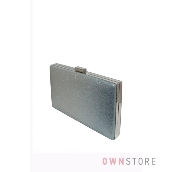 Купить онлайн клатч женский из парчи с серым омбре - арт.633-3
