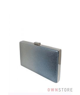Купить онлайн клатч из парчи с серо-голубым омбре - арт.633-3