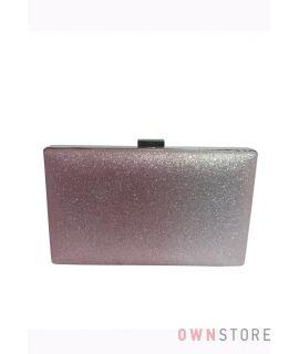 Купить онлайн клатч женский из парчи с серо-малиновым омбре - арт.633-3