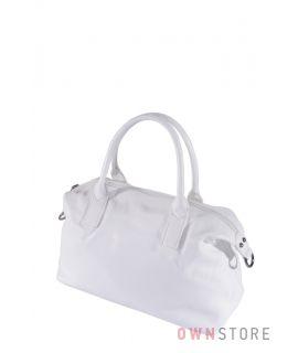 Купить онлайн белая женская кожаная сумка с цепочкой - арт.7100-6