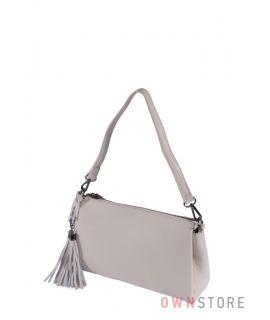 Купить онлайн небольшую бежевую женскую сумочку через плечо - арт.79172-1