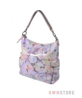 Купить онлайн женскую сумку с карманами из лазера летнюю - арт.923