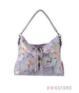 Купить онлайн сумку женскую прямоугольную из лазера летняя - арт.924