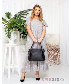 Купить онлайн сумку женскую черную кожаную на двух ручках - арт.5202