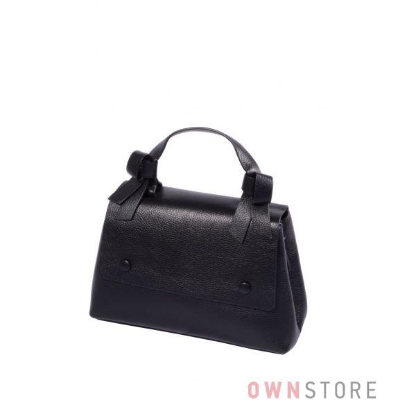 Купить онлайн небольшую черную кожаную женскую сумку - арт.6298