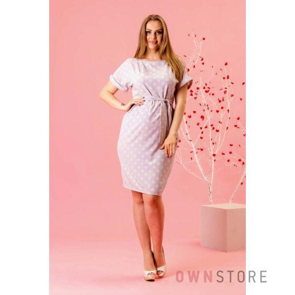Купить онлайн легкое женское платье в горошек - арт.1121