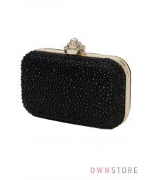 Вечерняя сумочка минодьер черная (арт. 0951)
