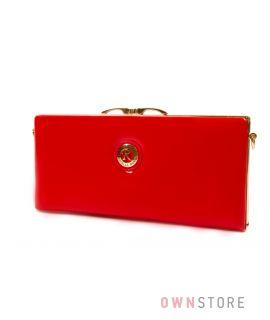 Купить красный лаковый женский клатч Farfalla Rosso - арт.61407