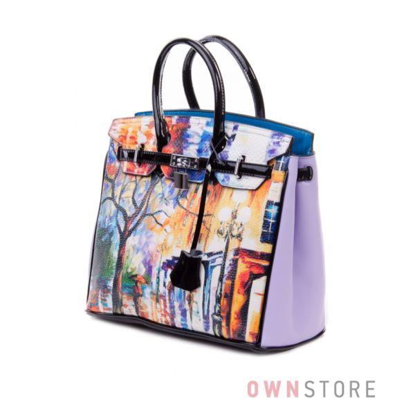 """Купить сумку женскую Velina Fabbiano """"Городской пейзаж""""  - арт. 69985-1"""