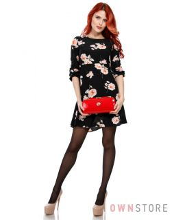 Купить женский клатч красный лаковый на цепочке Фарфалла Россо - арт.90157