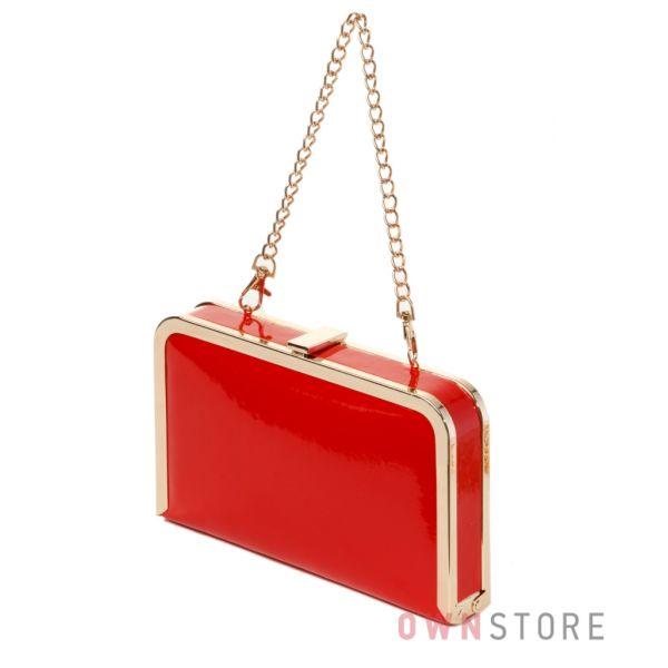 Купить клатч женский лаковый красный Rosе Heart - арт. 8632