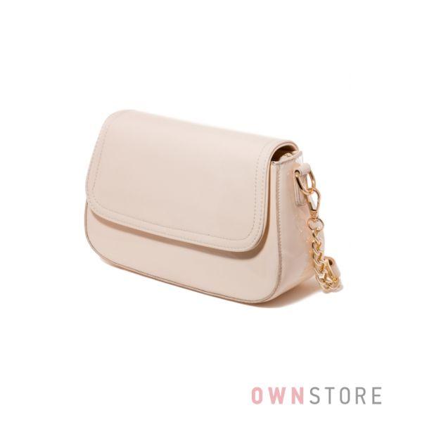 Купить женскую сумочку из лака цвета слоновой кости - арт.68260