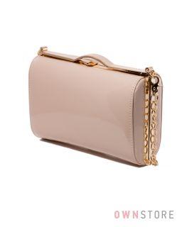 Купить сумку - клатч женскую лаковую от Rose Heart цвета пудры - арт.8653