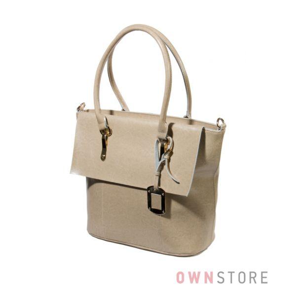 Купить сумку женскую кожаную классическую с брелоком Meglio - арт.1281