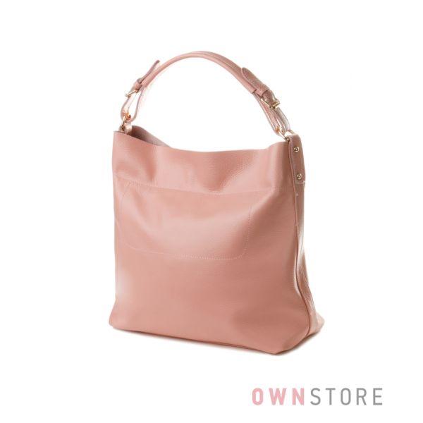 Купить женскую сумку из натуральной кожи - розовую Meglio - арт.1362