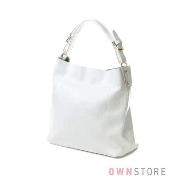 Купить белую кожаую женскую сумку Meglio - арт.1362