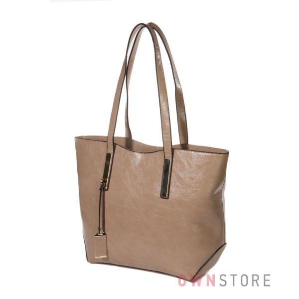 Купить сумку женскую вместительную с длинными ручками  - арт.7066