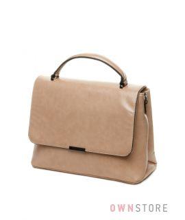 Купить небольшую женскую сумку-портфель с перекидом - арт.76030