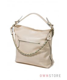 Кожаная молочная сумка с цепочкой(арт.93251А)
