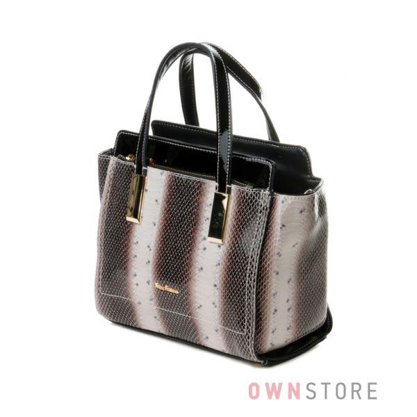 Купить небольшую серую женскую сумочку из лазера от Велина Фабиано - арт.37527