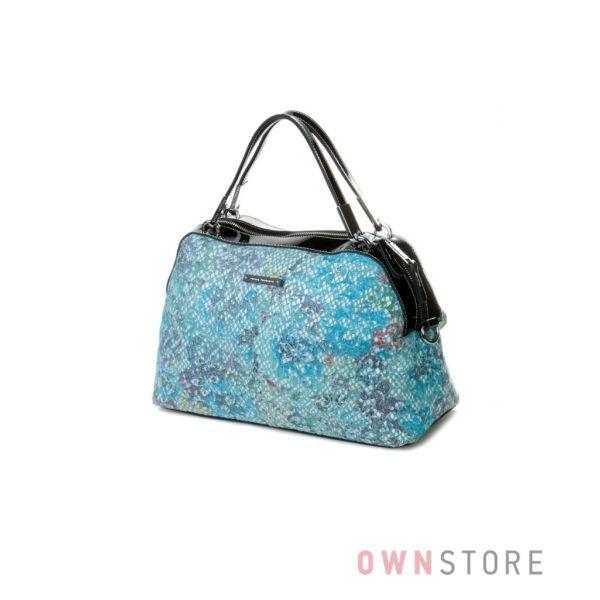 Купить сумку женскую голубую из лазера Velina Fabbiano - арт.59769