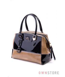 Купить сумку женскую кожаную комбинированную с лаком Велина Фабиано - арт.32164-1