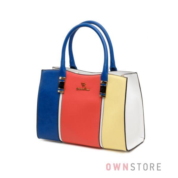 Купить сумку женскую комбинированную разноцветную Farfalla Rosso - арт.571671-1