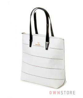 Купить большую белую женскую сумку Farfalla Rosso - арт.571708